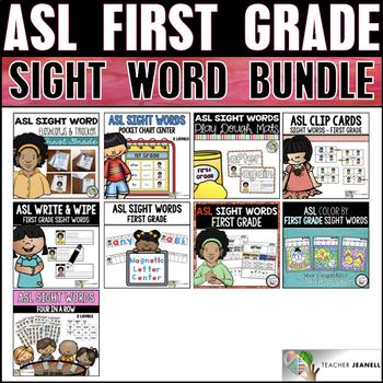 American Sign Language ASL First Grade Sight Word Bundle