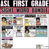 ASL American Sign Language First Grade Sight Word Bundle