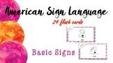 American Sign Language (ASL) Flashcards