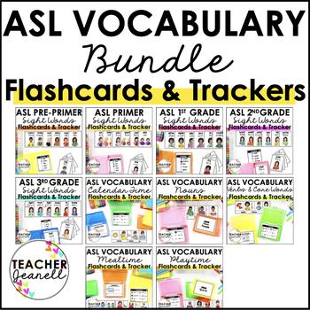 American Sign Language ASL Flashcards & Trackers - MEGA Bundle