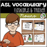 ASL American Sign Language Flashcards & Tracker - Nouns