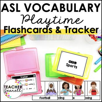 American Sign Language ASL Flashcards & Tracker - Playtime