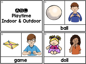 ASL American Sign Language Vocabulary Cards & Tracker - Playtime