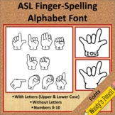 American Sign Language (ASL) Fonts