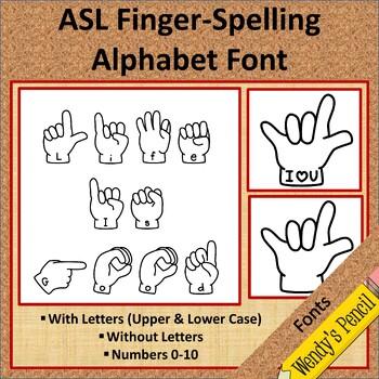 American Sign Language (ASL) Fonts
