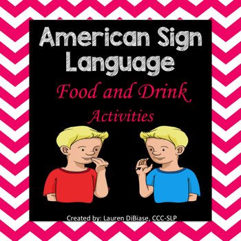 American Sign Language (ASL) Food and Drinks Resource