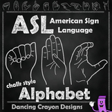 ASL American Sign Language:  ASL Hand Sign Alphabet: Chalk