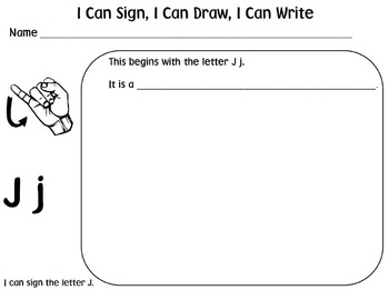 American Sign Language (ASL) ~I Can Sign, I Can Draw, I Can Write!