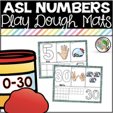 ASL American Sign Language Number Sense Playdough Mats 0-30