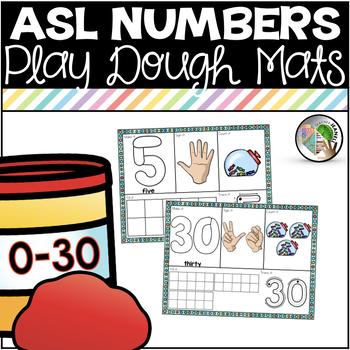 ASL American Sign Language Number Sense Playdough Mats 0-30