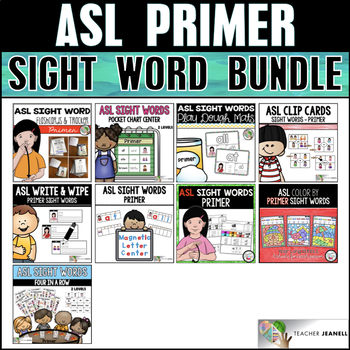 ASL American Sign Language Primer Sight Word Bundle