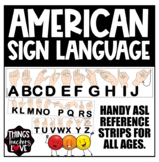 American Sign Language (ASL) - Reference Chart, USA Tabloid Size