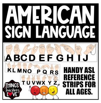 American Sign Language (ASL) Learning Reference Chart for Classroom Decor