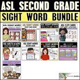 ASL American Sign Language Second Grade Sight Word Bundle