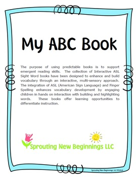 American Sign Language (ASL) ~Sight Reader Books Bundled