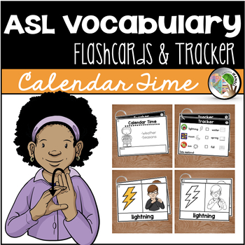American Sign Language ASL Flashcards & Tracker - Calendar Time