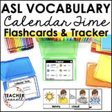 ASL American Sign Language Flashcards & Tracker - Calendar Time
