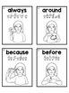 ASL American Sign Language Sight Word Flashcards & Tracker - Second Grade