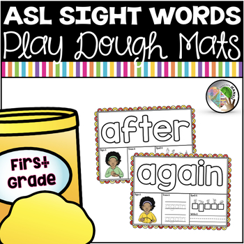 American Sign Language ASL Sight Word Playdough Mats - First Grade