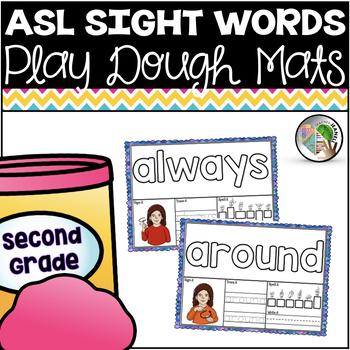 American Sign Language ASL Sight Word Play Dough Mats - Second Grade