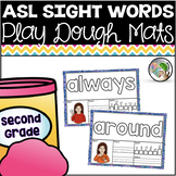 ASL American Sign Language Sight Word Playdough Mats - Second Grade