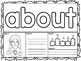 American Sign Language ASL Sight Word Playdough Mats - Third Grade