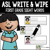 American Sign Language ASL Sight Words Write and Wipe Cards - First Grade