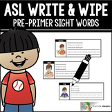 American Sign Language ASL Sight Words Write and Wipe Cards - Pre-Primer