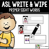 American Sign Language ASL Sight Words Write and Wipe Cards - Primer