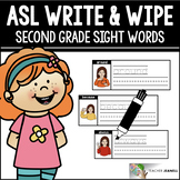 American Sign Language ASL Sight Words Write and Wipe Cards - Second Grade