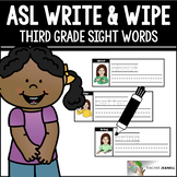 ASL American Sign Language Sight Words Write and Wipe Cards - Third Grade