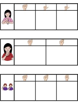 ASL American Sign Language Sight Words Magnetic Letter Center - Primer