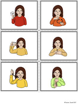 American Sign Language ASL Sight Words Pocket Chart Center - Second Grade
