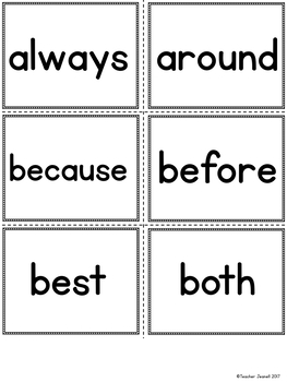 ASL American Sign Language Sight Words Pocket Chart Center - Second Grade