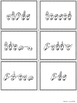 ASL American Sign Language Sight Words Pocket Chart Center - Third Grade