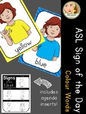 American Sign Language (ASL) - Signs of the Week (1 week) - Colour (Color) Words