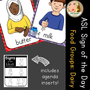 American Sign Language (ASL) - Signs of the Week - Food Groups: Dairy (1 week)