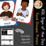 American Sign Language (ASL) - Signs of the Week - Food Groups: Protein (1 week)
