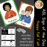 American Sign Language (ASL) - Signs of the Week - Happy Fall Y'all!