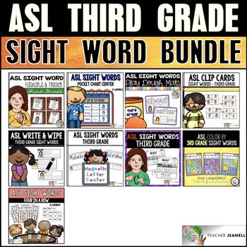 ASL Third Grade Sight Word Bundle