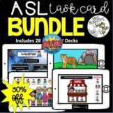 American Sign Language  ASL Vocabulary BOOM CARD™ BUNDLE