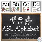American Sign Language ASL Word Wall Alphabet and Alphabet