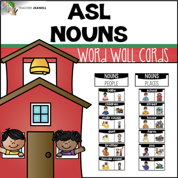 American Sign Language ASL Word Wall Cards - Nouns
