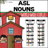 ASL American Sign Language Word Wall Cards - Nouns