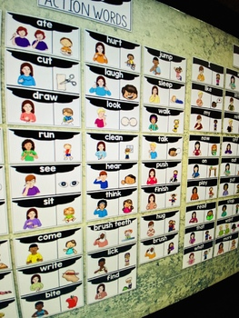 ASL American Sign Language Word Wall Cards - Verbs and Core Words