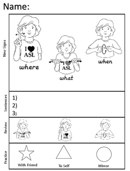 American Sign Language Asl Worksheets By Marissa S 1 2 3 Dollar Steals