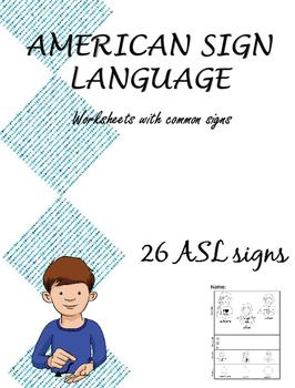 American Sign Language (ASL) Worksheets