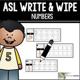 ASL American Sign Language Write and Wipe Cards - Numbers