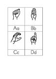 American Sign Language Alphabet Cards