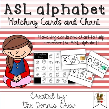 American Sign Language Alphabet Chart And Puzzles By The Dennis Crew